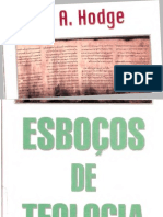 ESBOÇOS DE TEOLOGIAQ - A. A. HODGE