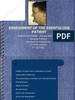 Prostho IV-Slides 2- Assessment of the Edentulous Patient