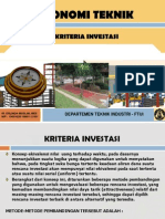 c. Ekotek-kriteria Investasi