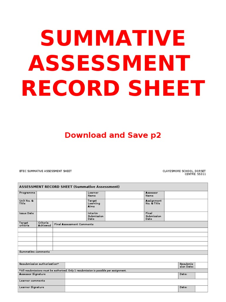 summative assessment 2 assignment brief and Assignment 2- assessment - download formative and summative assessment new paths of learning and less traditional modes of assessment assignment #2 alecia.
