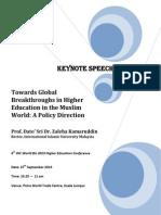 Towards Global Breakthroughs in Higher Education in the Muslim World