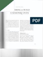 Preparing to Build a Masonry Oven