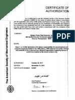 BP ASME Certs Nov 2014 Expiration