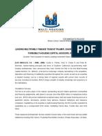 MHCA Press Release - June, 2009 (downloadable)