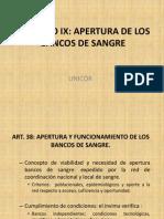 CAPITULO IX Decreto 1571 Banco de Sangre