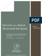 Saykh al-Akbar Ibn 'Arabī brief biography