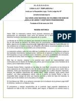 RESEÑA HISTORICA ASOCIACION DE JOVENES ES´PERANZA DE LA FRATERNIDAD