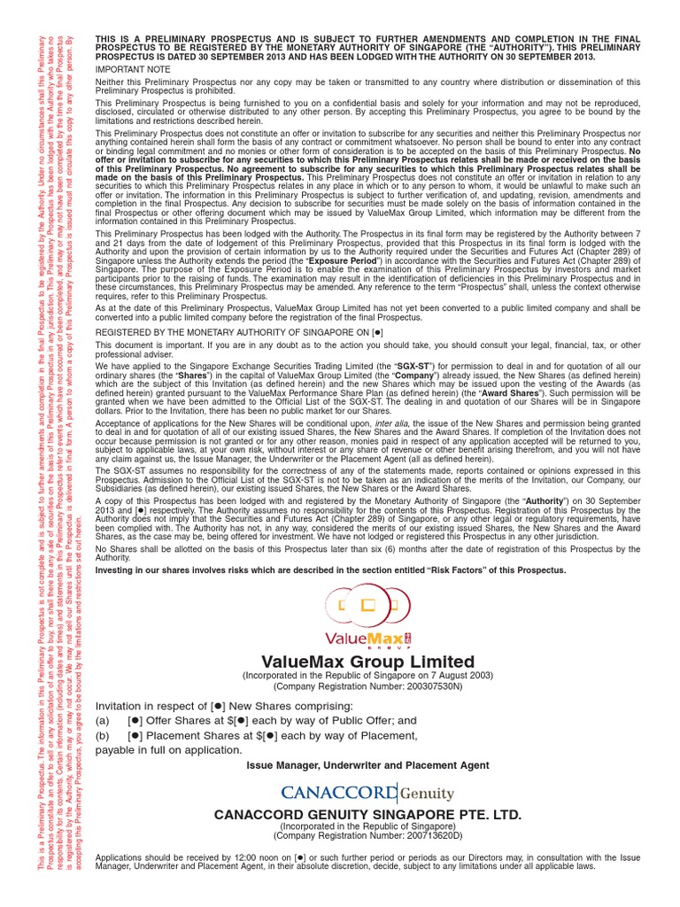 Valuemax Ipo Clean Board Of Directors Prospectus Finance Max 232n Integrated Circuit Ic Electronic Component Johor End Time 3