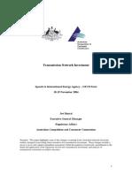 Australian Transmission Network Investment