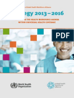 The Global Health Workforce Alliance Strategy 2013-2016