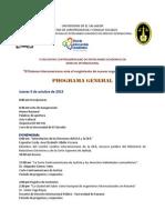 Programa Congreso Salvador