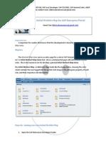 Initial WorkSet Map for SAP Enterprise Portal