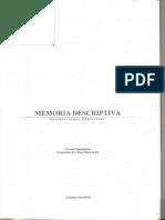 Memoria Descriptiva de Edificio