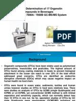 Determination of 17 Organotin Compounds by GCQQQ