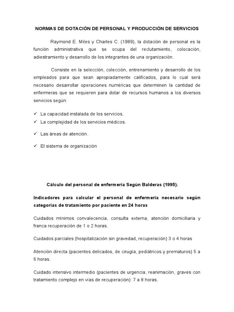 CÁLCULO DE PERSONAL