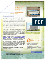 Manufacturer of Sewage Treatment Plant in Ahmedabad