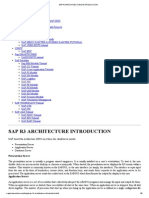 Sap r3 Architecture Introduction