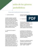 teoras sobre la clasificacin de los gneros periodsticos