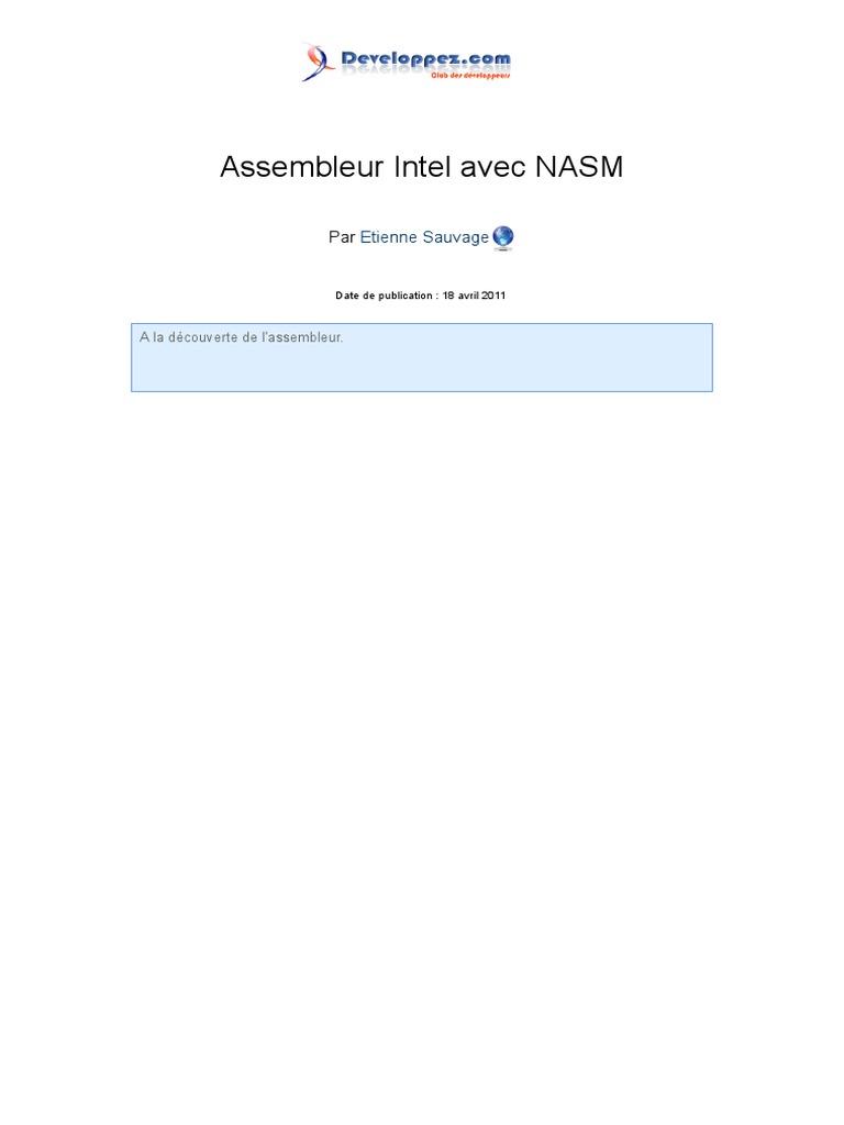 nasm assembleur