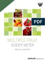 Multiple Fruit Acidity Meter