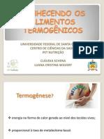 Alimentos termogenicos - Cláudia e Luana