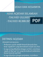 Konsep Aqidah Dan Kesannya kepada umat islam