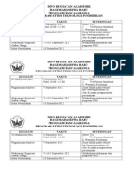 Info Kegiatan Akademik Tes 2012 September