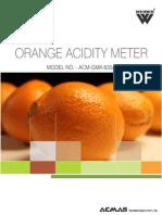 Orange Acidity Meter
