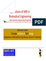 Applications of MRI in Biomedical Engineering