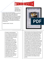 Split Screen Research