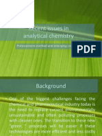 Recent Issues in Analytical Chemistry