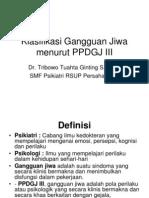 28554403 Klasifikasi Gangguan Jiwa Menurut PPDGJ III
