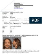 Wanted Person of the Week-Kallsen