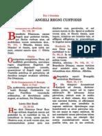 Sancti Angeli Regni Custodis. Die 1 Octobris