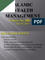 Islamic Wealth Management - 07-07-2013