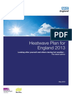 Heatwave Plan Looking After Yourself and Others