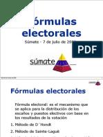 FORMULAS ELECTORALES