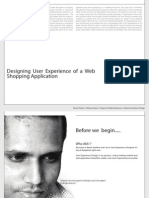 Designing User Experience of a Web Shopping Application
