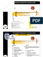 Coaching Disabled Footballers