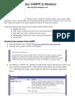 Instalasi XAMPP Di Windows