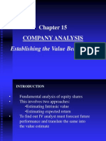 Chapter 15 Company Analysis