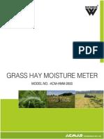 Grass Hay Moisture Meter