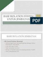 Base Isolation System Untuk Jembatan