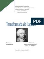 Definición  de la transformada de Laplace derivación