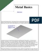 Sheet Metal Basics