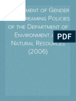Assessment of Gender Mainstreaming Policies of the Department of Environment and Natural Resources (2006)