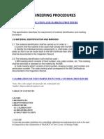 Engineering Procedures