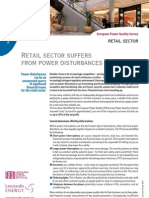 Retail sector suffers from power disturbances