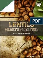 Lentils Moisture Meter