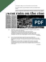 Acid Rain n Green House Effects